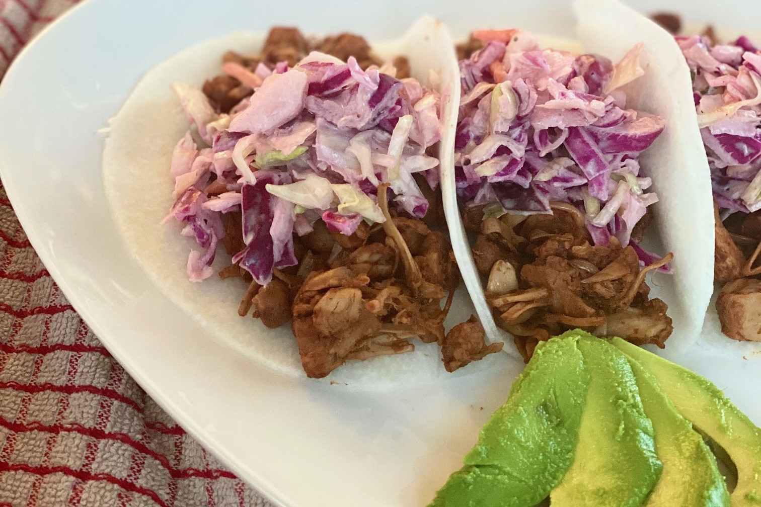 "Jackfruit ""Pulled"" BBQ tacos"